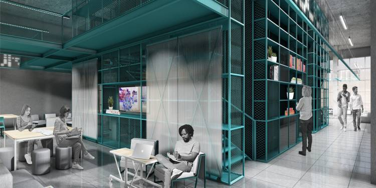 3D Rendering of the new CreativeLab space