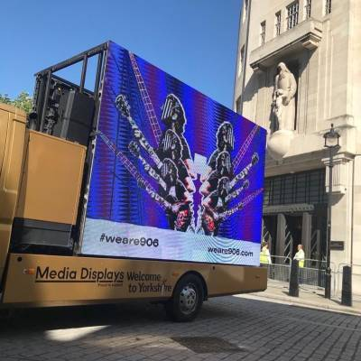 Advertising and Brand Design mobile exhibition screen